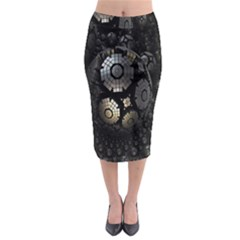Fractal Sphere Steel 3d Structures Midi Pencil Skirt