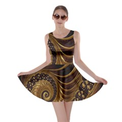 Fractal Spiral Endless Mathematics Skater Dress