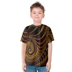 Fractal Spiral Endless Mathematics Kids  Cotton Tee