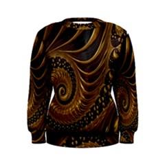 Fractal Spiral Endless Mathematics Women s Sweatshirt