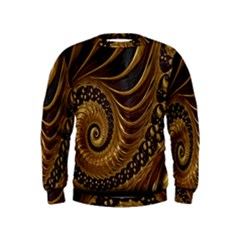 Fractal Spiral Endless Mathematics Kids  Sweatshirt