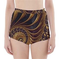 Fractal Spiral Endless Mathematics High-Waisted Bikini Bottoms
