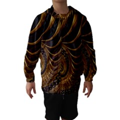 Fractal Spiral Endless Mathematics Hooded Wind Breaker (Kids)