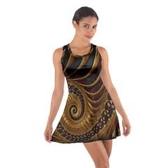 Fractal Spiral Endless Mathematics Cotton Racerback Dress