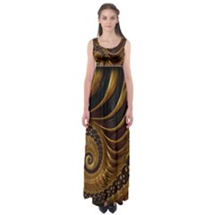 Fractal Spiral Endless Mathematics Empire Waist Maxi Dress