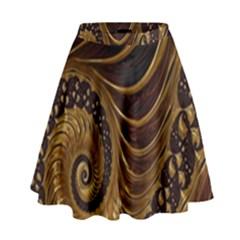 Fractal Spiral Endless Mathematics High Waist Skirt