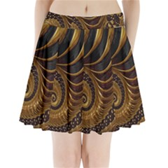Fractal Spiral Endless Mathematics Pleated Mini Skirt