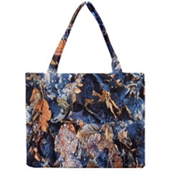 Frost Leaves Winter Park Morning Mini Tote Bag