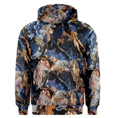 Frost Leaves Winter Park Morning Men s Pullover Hoodie