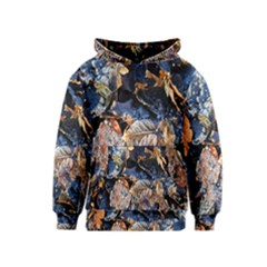 Frost Leaves Winter Park Morning Kids  Pullover Hoodie