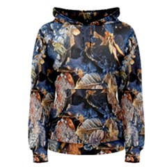 Frost Leaves Winter Park Morning Women s Pullover Hoodie
