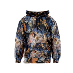 Frost Leaves Winter Park Morning Kids  Zipper Hoodie