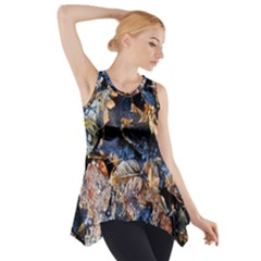 Frost Leaves Winter Park Morning Side Drop Tank Tunic