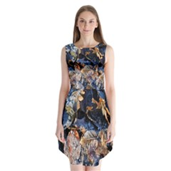 Frost Leaves Winter Park Morning Sleeveless Chiffon Dress