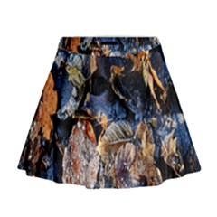 Frost Leaves Winter Park Morning Mini Flare Skirt