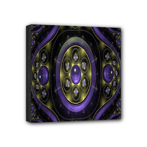 Fractal Sparkling Purple Abstract Mini Canvas 4  x 4