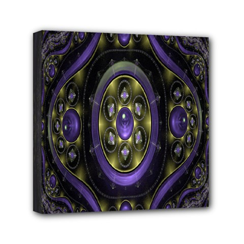 Fractal Sparkling Purple Abstract Mini Canvas 6  x 6