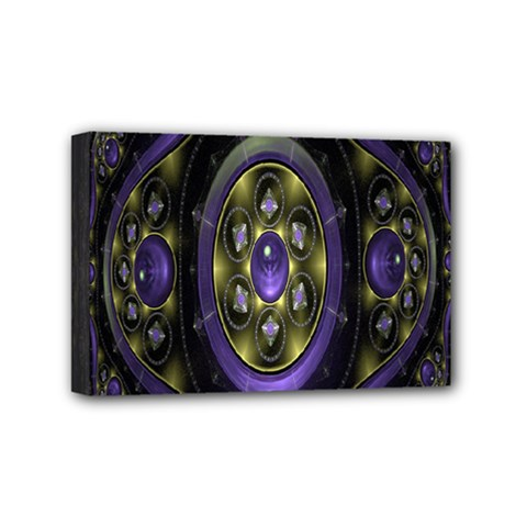 Fractal Sparkling Purple Abstract Mini Canvas 6  X 4