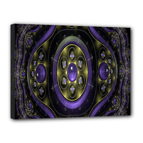 Fractal Sparkling Purple Abstract Canvas 16  X 12