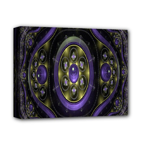Fractal Sparkling Purple Abstract Deluxe Canvas 14  X 11