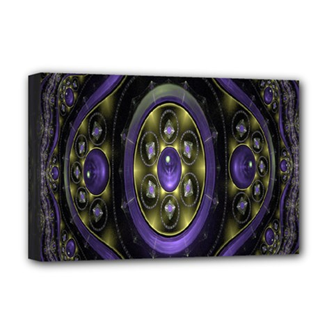 Fractal Sparkling Purple Abstract Deluxe Canvas 18  x 12
