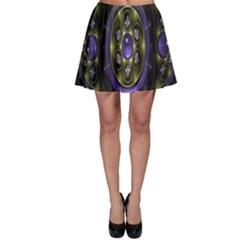 Fractal Sparkling Purple Abstract Skater Skirt
