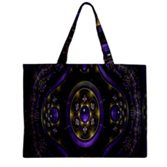 Fractal Sparkling Purple Abstract Mini Tote Bag