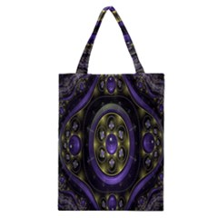 Fractal Sparkling Purple Abstract Classic Tote Bag