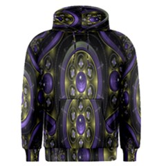 Fractal Sparkling Purple Abstract Men s Pullover Hoodie