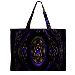 Fractal Sparkling Purple Abstract Zipper Mini Tote Bag