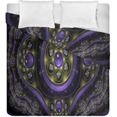 Fractal Sparkling Purple Abstract Duvet Cover Double Side (king Size)