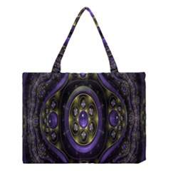 Fractal Sparkling Purple Abstract Medium Tote Bag