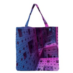 Fractals Geometry Graphic Grocery Tote Bag
