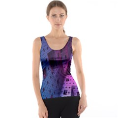 Fractals Geometry Graphic Tank Top