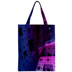 Fractals Geometry Graphic Zipper Classic Tote Bag