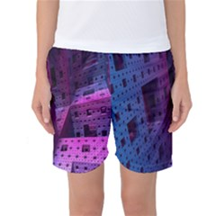 Fractals Geometry Graphic Women s Basketball Shorts