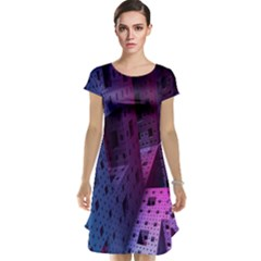 Fractals Geometry Graphic Cap Sleeve Nightdress