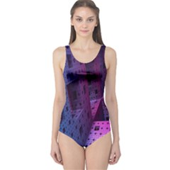 Fractals Geometry Graphic One Piece Swimsuit
