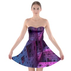 Fractals Geometry Graphic Strapless Bra Top Dress