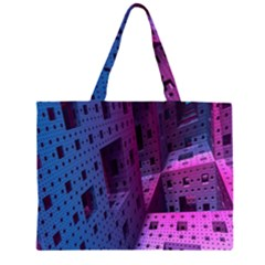 Fractals Geometry Graphic Large Tote Bag