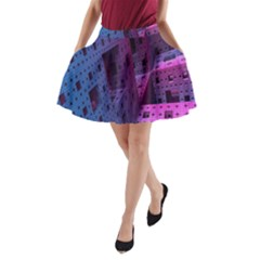 Fractals Geometry Graphic A Line Pocket Skirt