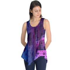 Fractals Geometry Graphic Sleeveless Tunic