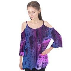 Fractals Geometry Graphic Flutter Tees