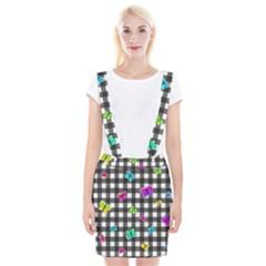 Butterflies Pattern Suspender Skirt