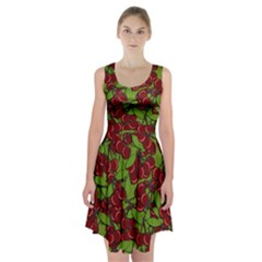 Cherry jammy pattern Racerback Midi Dress