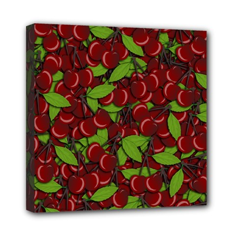 Cherry pattern Mini Canvas 8  x 8