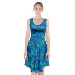 Blue autumn Racerback Midi Dress