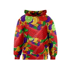 Summer Fruits Kids  Pullover Hoodie