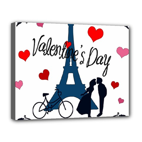 Valentine s day - Paris Canvas 14  x 11