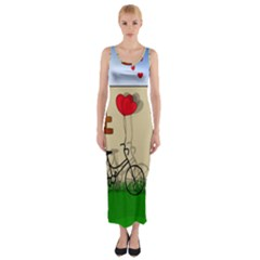Secret love Fitted Maxi Dress